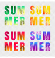 summer text set isolated transparent background vector image vector image