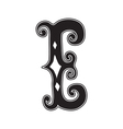 The vintage style letter E vector image vector image