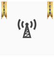 transmitter flat icon vector image