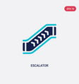 two color escalator icon from accommodation vector image vector image