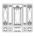 Wainscoting Decorative Damask frames vector image vector image