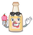 with ice cream apple cider isolated with the vector image vector image