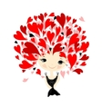 Woman in love portrait for your design vector image vector image