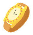wristwatch icon cartoon style vector image vector image