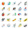 yield icons set isometric style vector image vector image