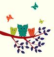 set of Decorative Owls vector image