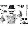 set of retro hipster vector image
