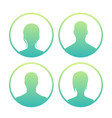4 avatars icons over white vector image vector image