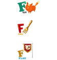 alphabet letter - F vector image vector image