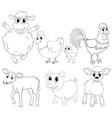 animal outlline for different types of farm vector image