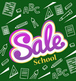 banner back to school sale flyer and vector image vector image