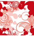 beautiful seamless pattern with swirls vector image vector image