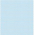 blue heart shape pattern vector image vector image