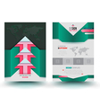 brochure template modern design arrows vector image vector image