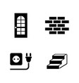 building house simple related icons vector image