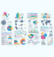 business bundle infographic icons set vector image