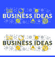 business ideas flat line concept for web banner vector image