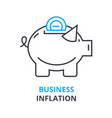 business inflation concept outline icon linear vector image vector image