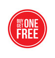 buy one get one off sign circular vector image vector image