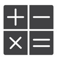 calculator glyph icon web and mobile calculate vector image vector image
