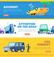 car accidents damaged and broken automobiles vector image vector image