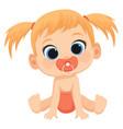 cartoony child a cute baby vector image