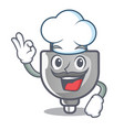 chef power plug in the character shape vector image