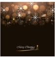 Christmas background with lights and snowflakes vector image
