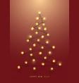 christmas tree made luminous garlands vector image vector image