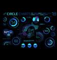 circle charts pie charts donut charts radial vector image