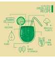 Clean green green juice recipes great detoxify vector image vector image
