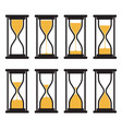 collection hourglass clock symbols vector image