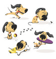 colorful character funny little dog vector image