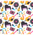 colorful music instrument seamless pattern vector image vector image