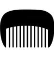 comb black vector image vector image