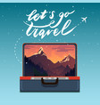 concept of travel vector image vector image