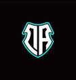 da initial logo design with a shield shape vector image vector image