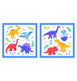 different dinosaurs - set flat design style vector image vector image