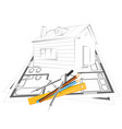 drawing house project vector image