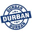 durban blue round grunge stamp vector image vector image