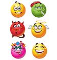 Emoticon Smilies Set vector image vector image