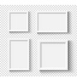 empty white picture frames set square elegant vector image vector image