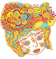 fairy tale surreal girl colorful psychedelic vector image vector image