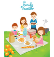 Family Picnic in Public Park vector image
