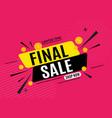 final sale banner poster vector image