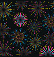 firework decoration explosion to celebrate holiday vector image vector image