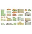 flat buildings vector image vector image