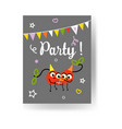 fruit summer party banner with two red ripe vector image vector image
