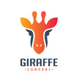 giraffe animal house logo design vector image