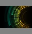 green circle digital abstract background vector image vector image